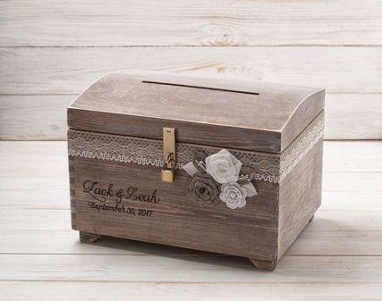Покана дървена кутия