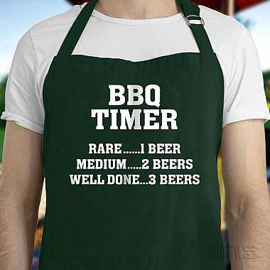 Забавна BBQ готварска престилка с надпис за подарък