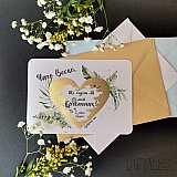 Скреч картичка-покана (за триене) за кръстник за подарък в Gifty.BG