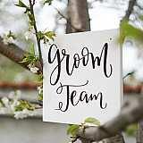 Табела от дърво Team Groom