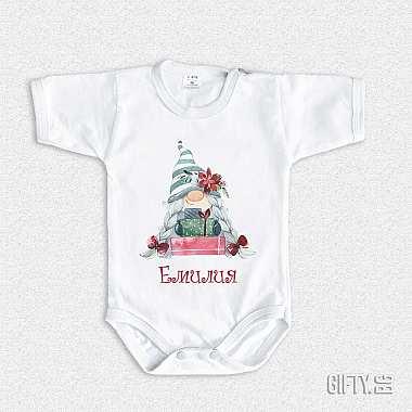 Коледно бебешко боди с име за момиче - Гифти.бг