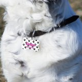 Кучешки медальон с десен на лапички и персонализиран дизайн