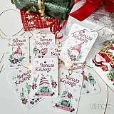 Коледни етикети с гномчета за подаръци - 8 бр.