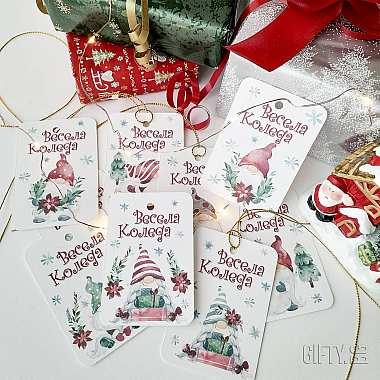 Коледни етикети с гномчета за подаръци - 8 бр. за подарък в Gifty.BG