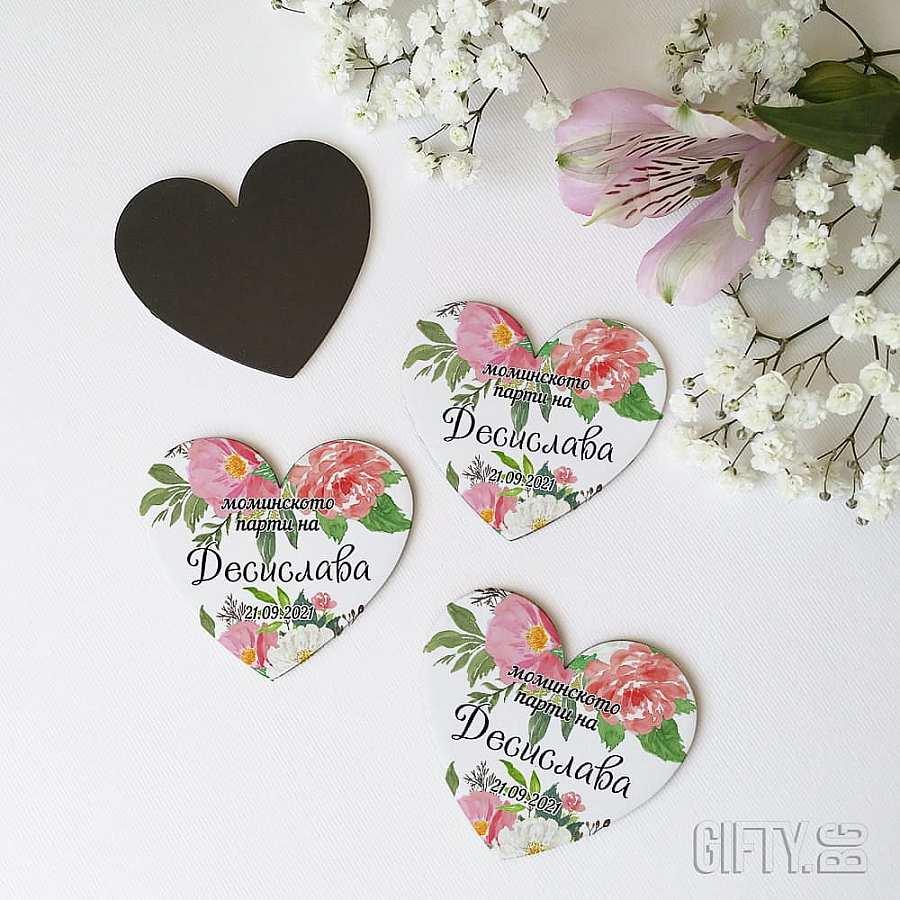 Подаръци за шаферките на моминско парти - магнитчета с имената им