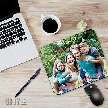 Подложка за мишка с отпечатана снимка като подарък за подарък в Gifty.BG
