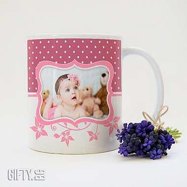 Чаша с бебешка снимка и надпис, идея за подарък