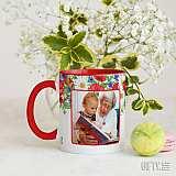 Чаша с червена дръжка за баба