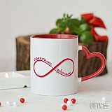 Чаша с Infinity символ - приятелки завинаги