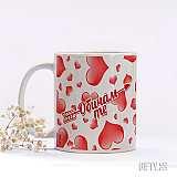Чаша със сърца любовен подарък за нея в Gifty.BG