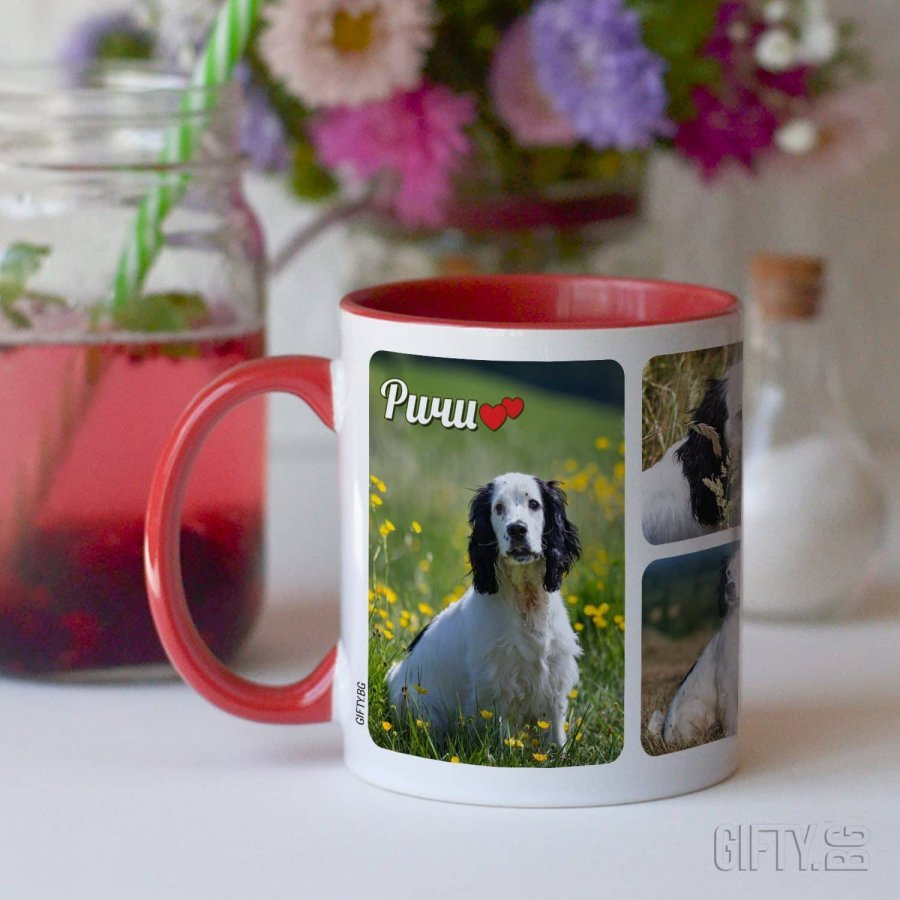 Чаша със снимки на домашен любимец за подарък - Gifty.BG