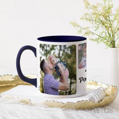 Чаша със снимки за подарък с цветна дръжка за подарък в Gifty.BG