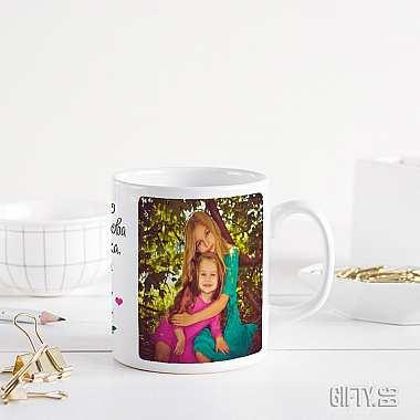 Чаша за баба с колаж от снимки по поръчка