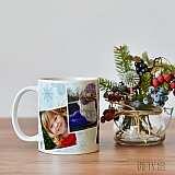 Коледна и новогодишна чаша с Ваши снимки