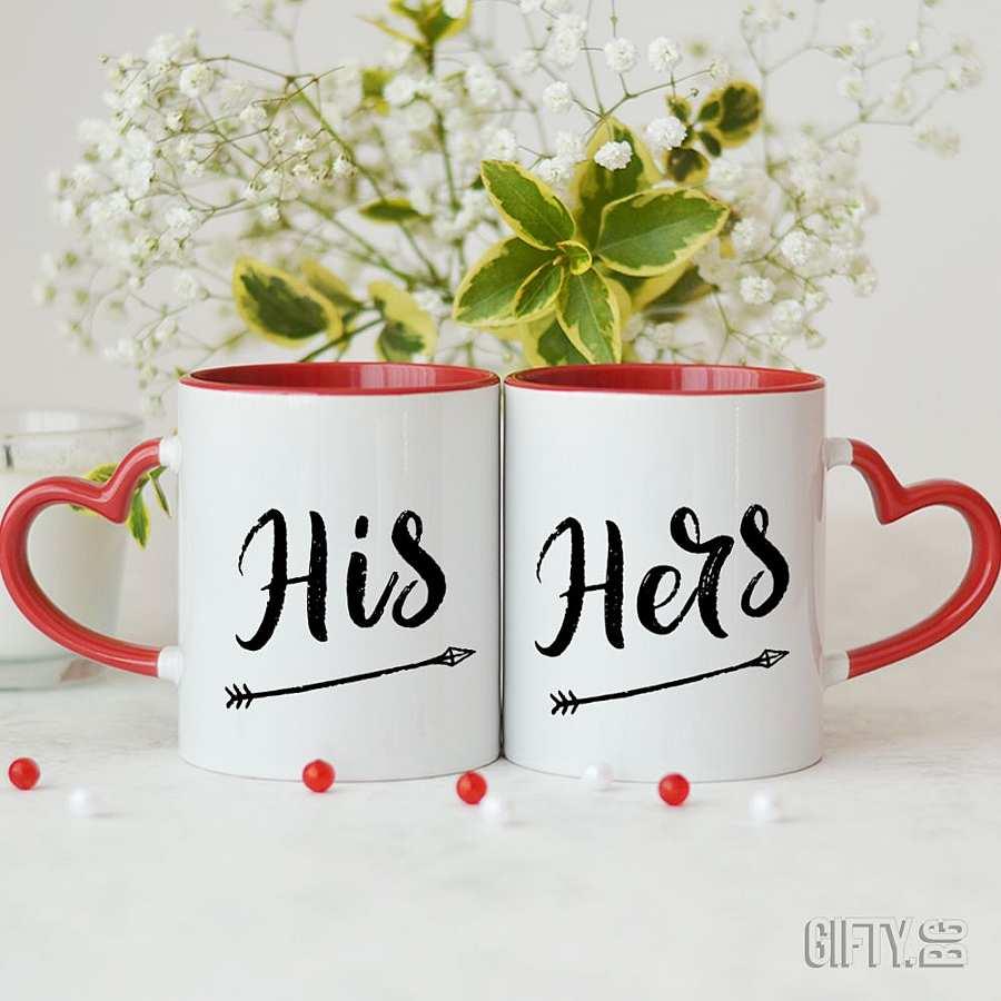 """Комплект чаши за двойки """"His"""" и """"Hers"""" за подарък в Gifty.BG"""