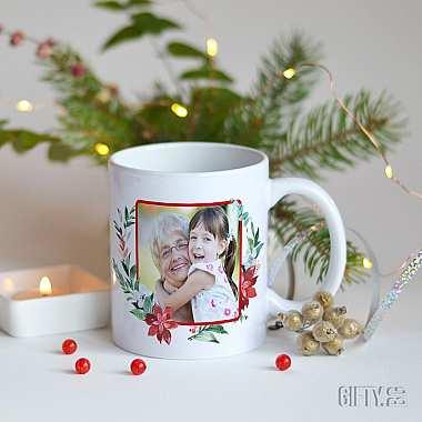 Магическа Коледна чаша със снимка за подарък