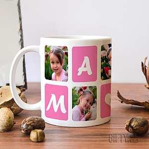Подарък чаша със снимки и надпис