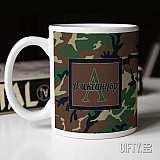 Уникална чаша подарък за мъж с камуфлажен дизайн за подарък в Gifty.BG