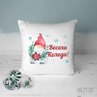 Декоративна Коледна възглавница за подарък