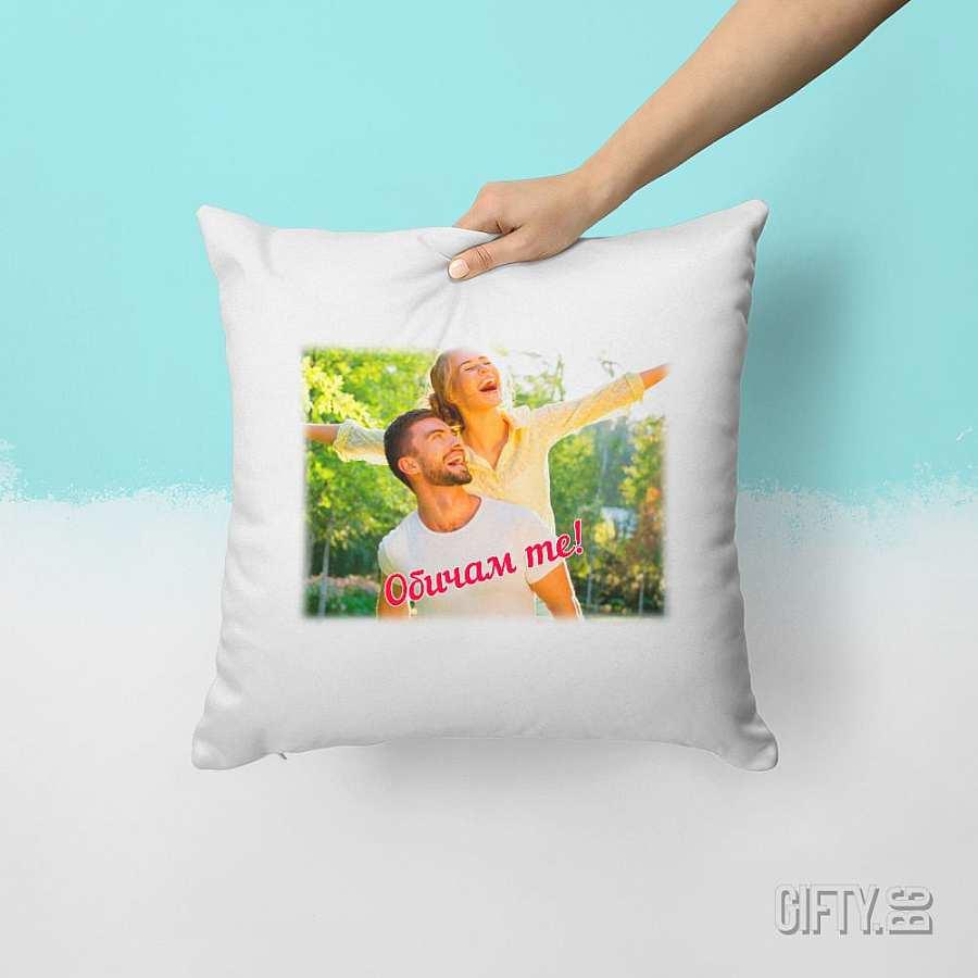 възглавница със снимка за подарък