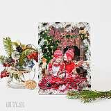 Коледен фото пъзел-рамка с ваша снимка
