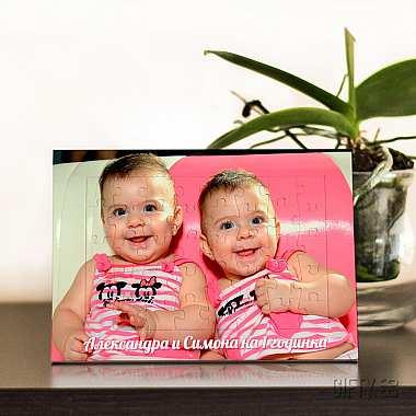Пъзел фоторамка от снимка по Ваш избор за подарък в Gifty.BG