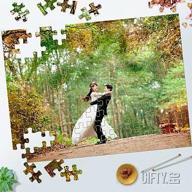 Фото пъзел голям -  запомнящ се подарък за младоженци за подарък в Gifty.BG