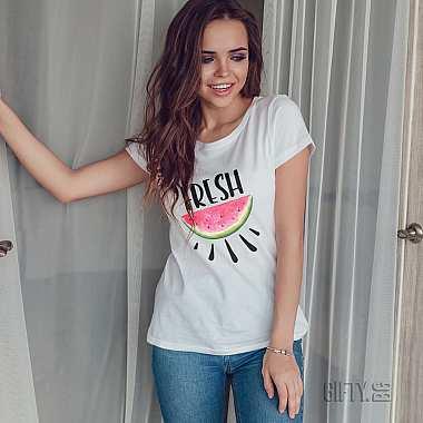 Тениски със свежа щампа по поръчка за подарък в Гифти.бг